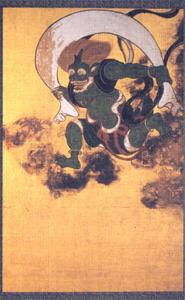 京都 建仁寺 御朱印帳(風神・雷神)おもて